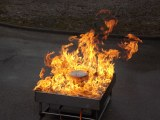 Générateur de flammes feu de nappe à électrovanne